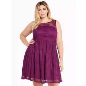 Torrid Dress mess lace illusion plus size